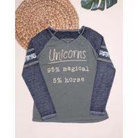Kaos Atasan Baju Anak Perempuan Justice Lengan Panjang Unicorns