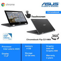 Asus Chromebook Flip Intel Celeron N4020 C214MA 4GB 32GB Chrome OS