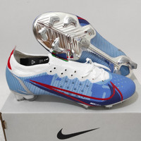 Sepatu Bola Nike Mercurial Vapor14 Elite White Blue Chrome Fg