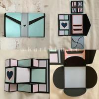 """Mini Scrapbook/Album """"FANCY"""" [Greeting Card] / Kartu Ucapan / DIY"""