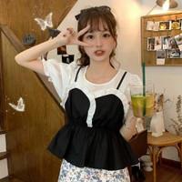 TERBARU!!! Ceva Top Blouse Korean Style/Baju Atasan Wanita Kekinian - Hitam