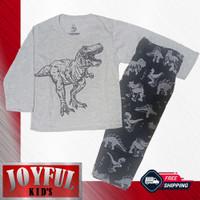 Setelan Panjang Baju / Kaos Anak Laki-laki DINO T-REX 1 - 10 Tahun