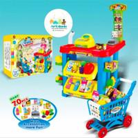 Mainan Anak Home Supermarket JUMBO Kasir Kasiran Superstore Troli Anak