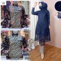 Set Couple Kebaya Tunik Modern / Baju Couple Kondangan / Kebaya Brokat