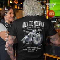 Kaos Baju Motorcycle Royal Enfield Mountain Motor Klasik Bikers Riders - L