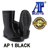 Boot Ap1 Black 25 26 27 Sepatu Boots AP Hitam Ap 1 SAFETY Original