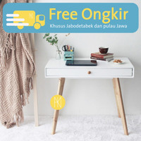 Nayanika Furniture - Meja Kerja Esthetik Minimalis - ROSE 3