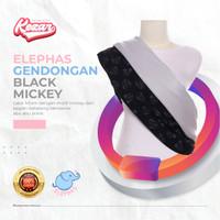 GENDONGAN BAYI PREMIUM ELEPHAS BLACK MICKEY | GENDONGAN BAYI - M = 51 - 65 Kg