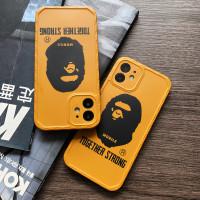 SOFT CASE CASING IPHONE BAPE ORANGE 7 8 PLUS + X XR XS 11 12 PRO MAX - Orange, 12 / 12 Mini