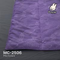 bed cover 230 x 230 cm ungu dg embos ukir ungu warna senada