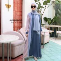 AMNA DRESS, DRESS WANITA, DRESS MUSLIM, CASUAL DRESS, DRESS