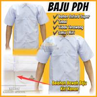 Baju Kemeja Putih Polos Formal PNS Guru Pendek Pria Seragam Kantor