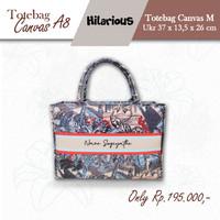 TOTE BAG KANVAS / Tas Tenteng / Kanvas Bag Initial /Totebag Canvas MA8