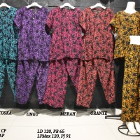 Setelan Kulot Jumbo Baby Doll Daster Baju Tidur Batik Pekalongan 11
