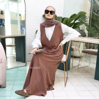 KHALISA DRESS, DRESS WANITA, DRESS MUSLIM, OVERALL, DRESS