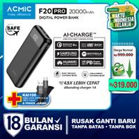 ACMIC F20PRO 20000mAh AiCharge Digital Power Bank (QC4 + PD + VOOC)