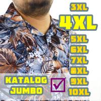 Baju Kemeja Pria Big Size 4L 4XL LD 120 Jumbo Bigsize XXXXL Pantai - MOTIF RANDOM, 4L