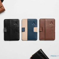 SWIFT RFID Leather Card Wallet Holder by Press Play