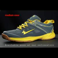 EAGLE GALLANT Sepatu Olahraga Badminton - Abu / Kuning, 37