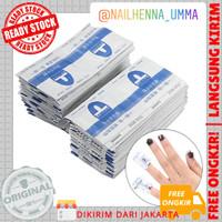 nail gel polis remover wrap / penghapus pembersih kutek gel isi 20 pcs