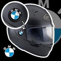 EMBLEM STIKER RESIN TIMBUL LENTUR LOGO BMW