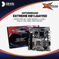 Motherboard Extreme H81 LGA1150 DDR3 HDMI VGA - Xtreme Intel H81 S1150
