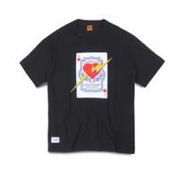 Human Made X WTAPS Poker Heart T-Shirt Black - M