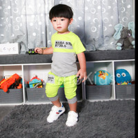 Baju/Setelan Kaos anak Laki Laki SAMO Import Premium Branded S-169