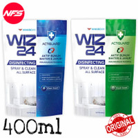 WIZ24 Disinfectant Spray Refill 400 ml-All Surface-Blue/Green-WIZ 24