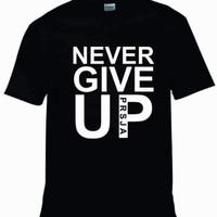 Kaos Never Give Up Persija - Hitam, S