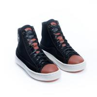 Sepatu Sneakers Kulit Pria Exodos57 Lampero Black Tan