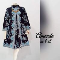 Baju atasan wanita tunik batik primis unggul jaya jumbo ld 120 amanda