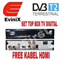 Set Top Box DVB T2 TV DIGITAL EVINIX FREE Kabel HDMI