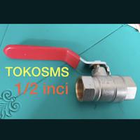 ball valve kuningan / stop kran model onda dan kitz ukuran 1/2 inci