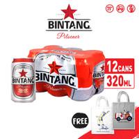 Bir Bintang Pilsener 320ml Can 12 Pcs + FREE Tote Bag