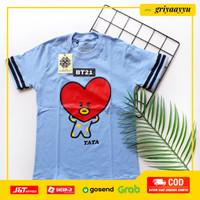 COD Pakaian Tshirt Kaos Baju Anak Perempuan BT21 BTS ARMY Unisex - Tata, 2