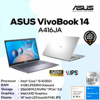 ASUS VIVOBOOK A416JA I5-1035G1 4GB 256GB 14 FHD W10 KB BACKLIT OHS