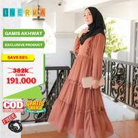 PREMIUM GAMIS casual muslim Kondangan S M L XL Syari polos |baju busui - soft pastel, S