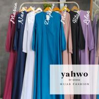 gamis wanita/gamis busuy & bumil/gamis yahwo original/gamis toyobo - M, Hitam