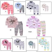 0-6 tahun Setelan Lengan Panjang Anak / Set Baju / Piyama Anak Part 1