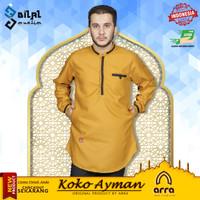 Baju Koko kurta pakistan Ayman Series Arra Lengan Panjang Pria Dewasa - Mustard, S