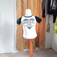 baju anak wanita putih gambar merk justice LD52 panjang 33