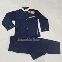 Baju muslim anak Jasko jas koko setelan Murah hight quality - Navy, SIZE-13