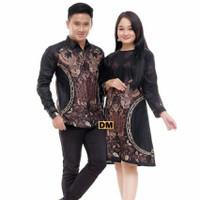 couple baju batik kemeja panjang dan dress batik Wanita terlaris - couple