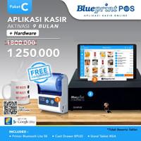 Paket Usaha / Aplikasi Kasir Blueprint POS 9 Bln Free Hardware Komplit