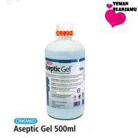 Hand Sanitizer Aseptic Gel Onemed 500 ml pump / dispenser / refill - 500 ml Refill