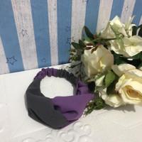 bandana korean style bando - gray ungu