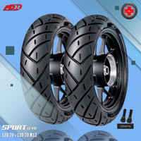 Paket Ban Motor VESPA MATIC // FDR SPORT ZEVO 120/70 - 130/70 Ring 12