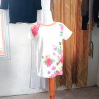 baju anak wanita warna putih gambar bunga merk Justice LD62 panjang44