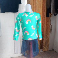 baju anak wanita hijau muda merk Justice LD52 panjang 58